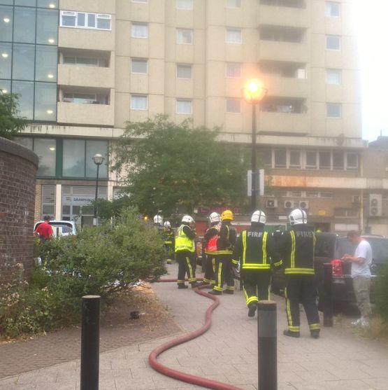 Firefighters Tackle North London Tower Block