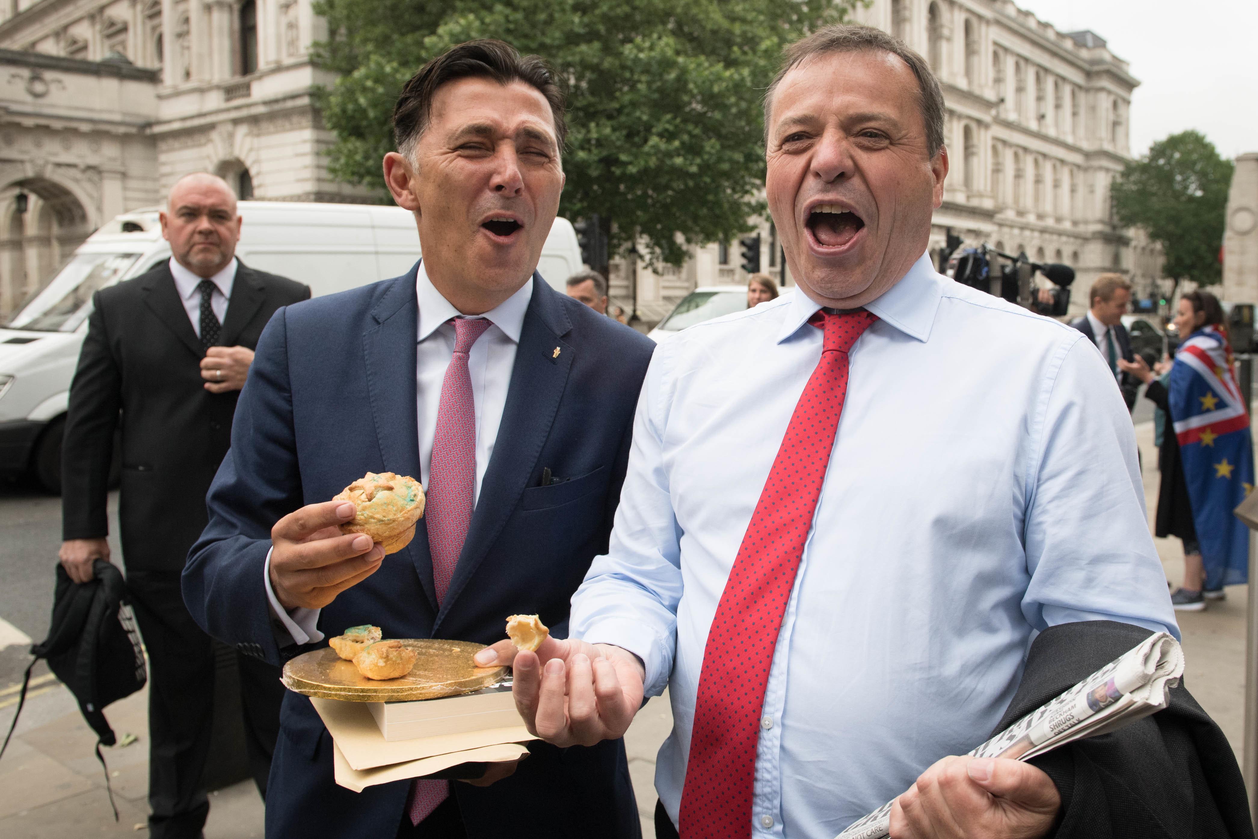 Leave.EU founder Arron Banks (right).