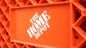 EVANSTON, IL - FEBRUARY 17:  The Home Depot logo is seen on a shopping cart outside the store February 17, 2005 in Evanston, Illinois. The world's largest home improvement retailer, Atlanta-based Home Depot has formed a hiring partnership with four of the country's leading national Hispanic organizations: The ASPIRA Association, Hispanic Association of Colleges and Universities, National Council of La Raza, and SER - Jobs for Progress National. The Home Depot said it will work with these organizations and their network of local offices to help recruit candidates for full and part-time positions across the country.  (Photo by Tim Boyle/Getty Images)