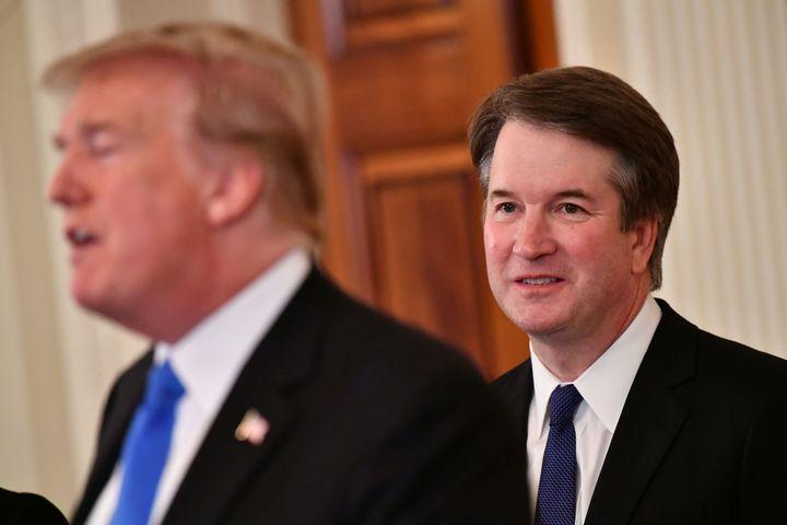 President Donald Trump with his Supreme Court nominee, Brett Kavanaugh.