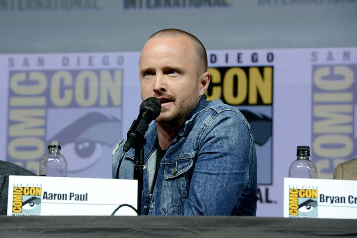"Paul's ""Breaking Bad"" character was originally going to be killed in the first season. He stayed on, e"