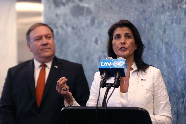 폼페이오가 유엔 안보리 회원국들에 '대북제재 유지'를