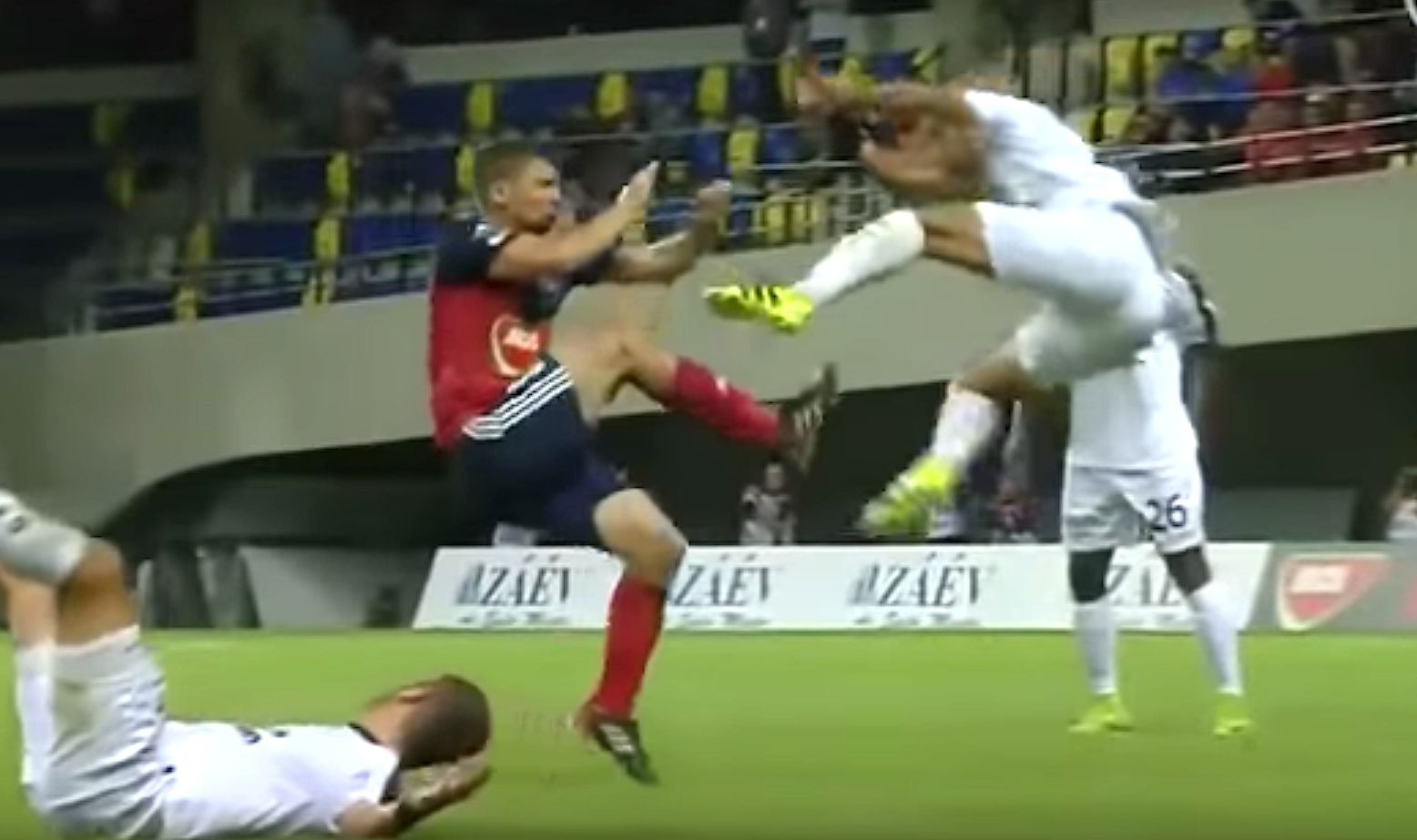 Soccer Player Sees Red After Brutal Drop Kick In Rival's