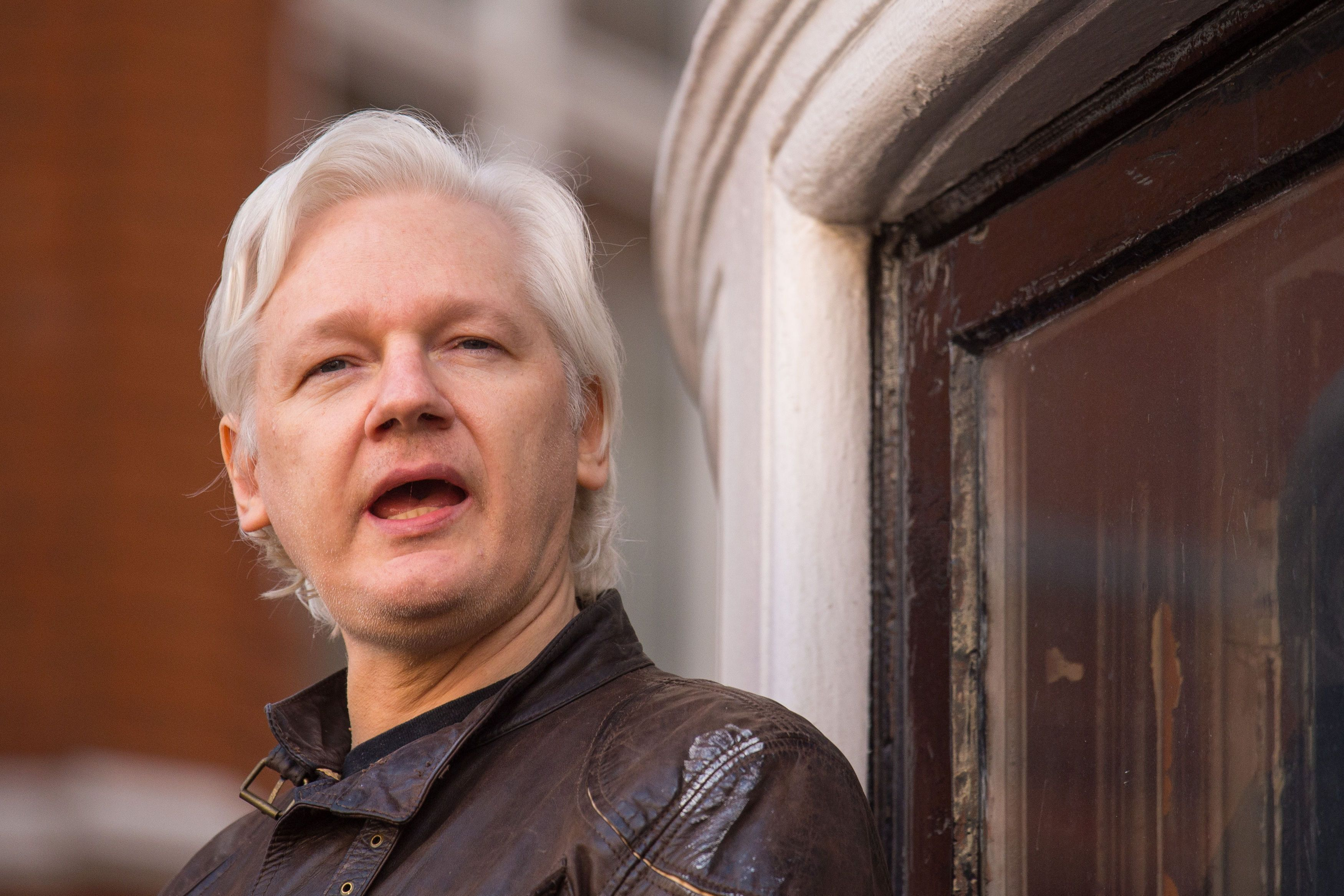 File photo dated 19/5/2017 of Julian Assange, as today marks the sixth anniversary of his entering the Ecuadorian embassy in London seeking political asylum to prevent his extradition to the US.