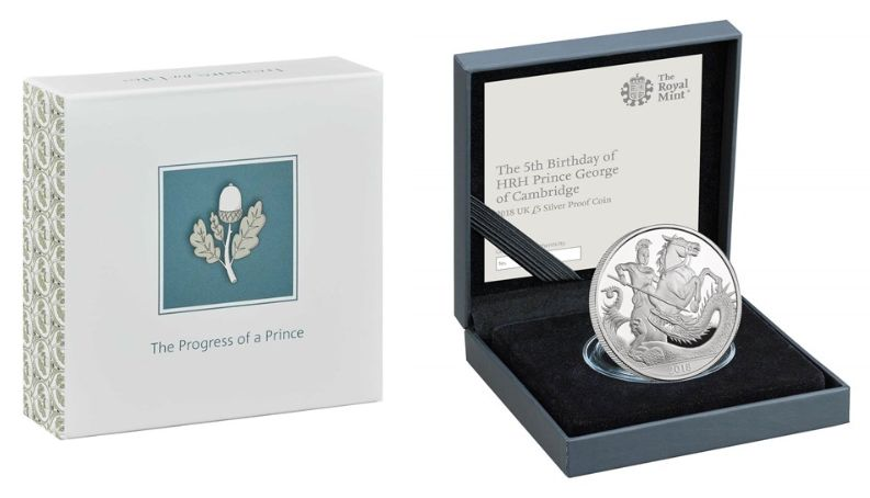 The Royal Mint debuted its commemorative gift to Prince George earlier this month