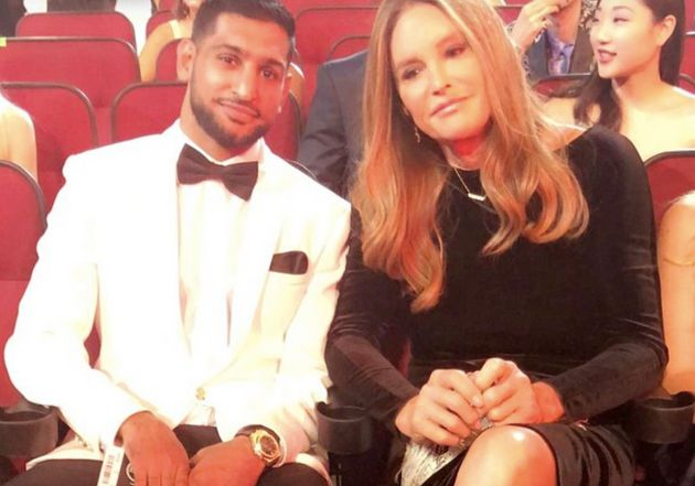 Amir Khan and Caitlyn Jenner at the