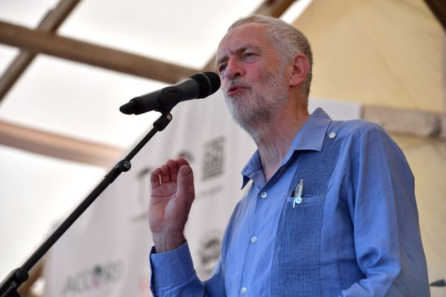Labour leader Jeremy Corbyn speaking at the Tolpuddle Martyrs Festival in Tolpuddle,