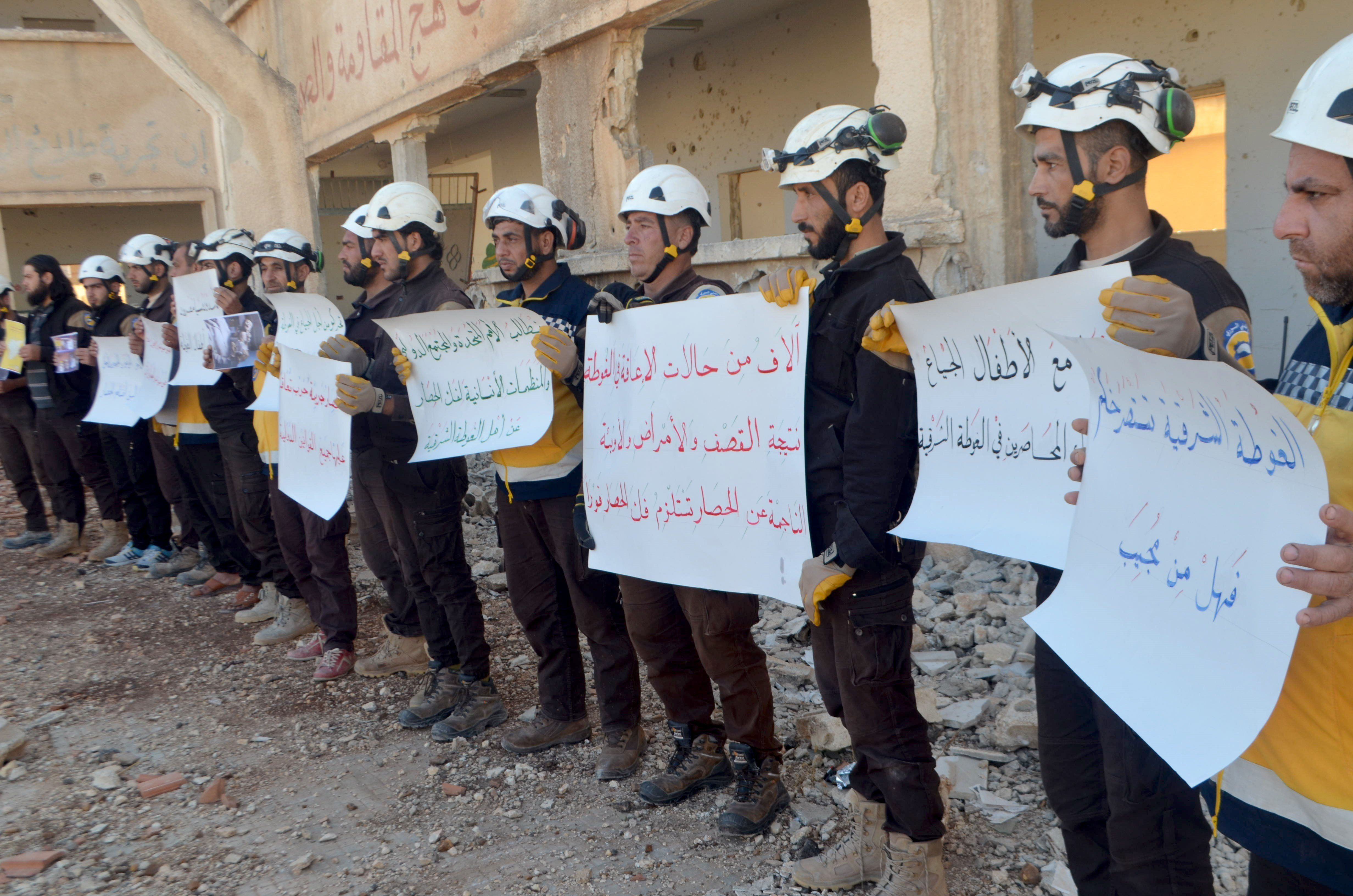 Στην Ιορδανία εκατοντάδες εθελοντές από τα «Λευκά Κράνη» για να μην πέσουν στα χέρια του