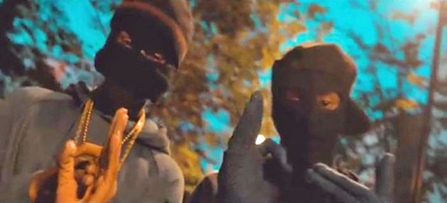 Still of a drill music video, a sub genre of rap that has been linked to gang