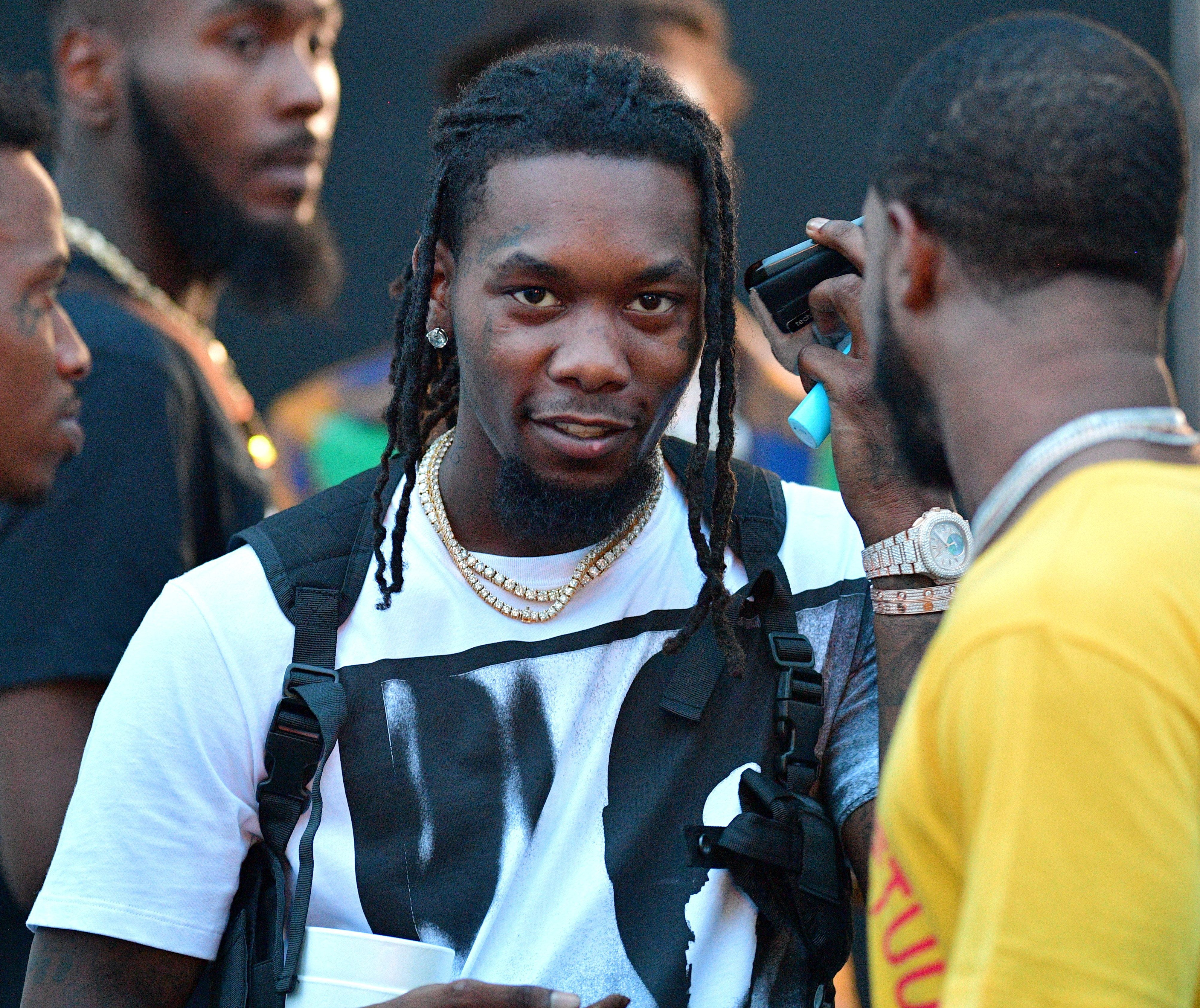 ATLANTA, GA - JUNE 16: Offset of The Group Migos attends Birthday Bash 2018 at Cellairis Amphitheatre at Lakewood on June 16, 2018 in Atlanta, Georgia.(photo by Prince Williams/Wireimage)