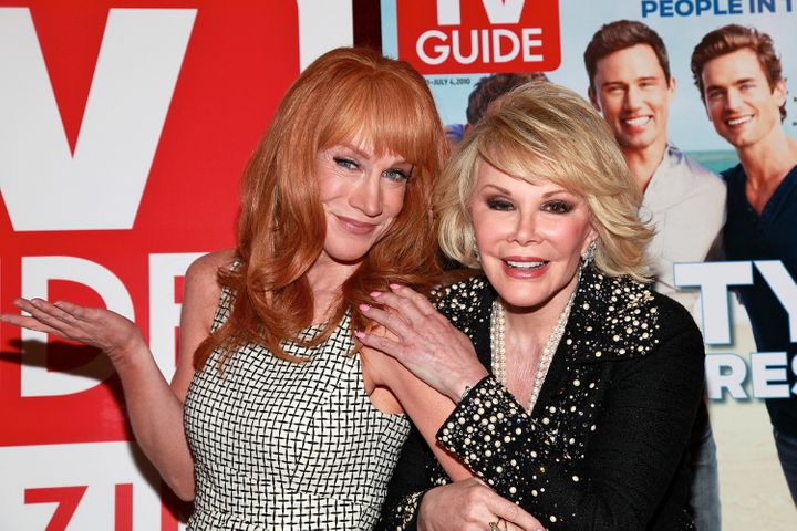 Kathy Griffin and Joan Rivers pictured together in NYC on June 14, 2010.