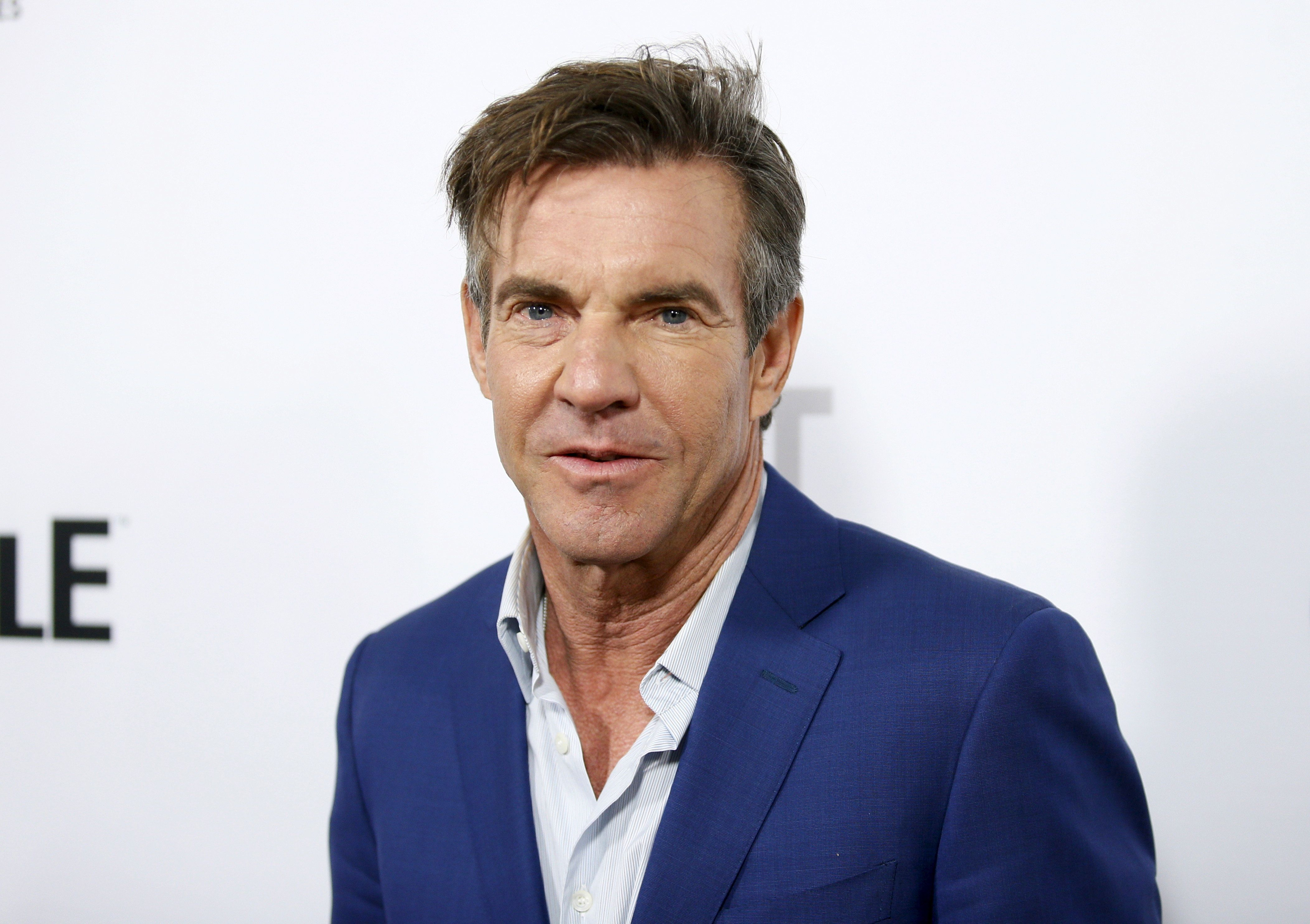 "Cast member and executive producer Dennis Quaid poses at a screening of Crackle's first original scripted drama from Sony's streaming network ""The Art of More"" at Sony Pictures Studios in Culver City, California, October 29, 2015. REUTERS/Danny Moloshok"