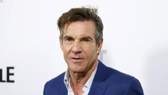 """Cast member and executive producer Dennis Quaid poses at a screening of Crackle's first original scripted drama from Sony's streaming network """"The Art of More"""" at Sony Pictures Studios in Culver City, California, October 29, 2015. REUTERS/Danny Moloshok"""