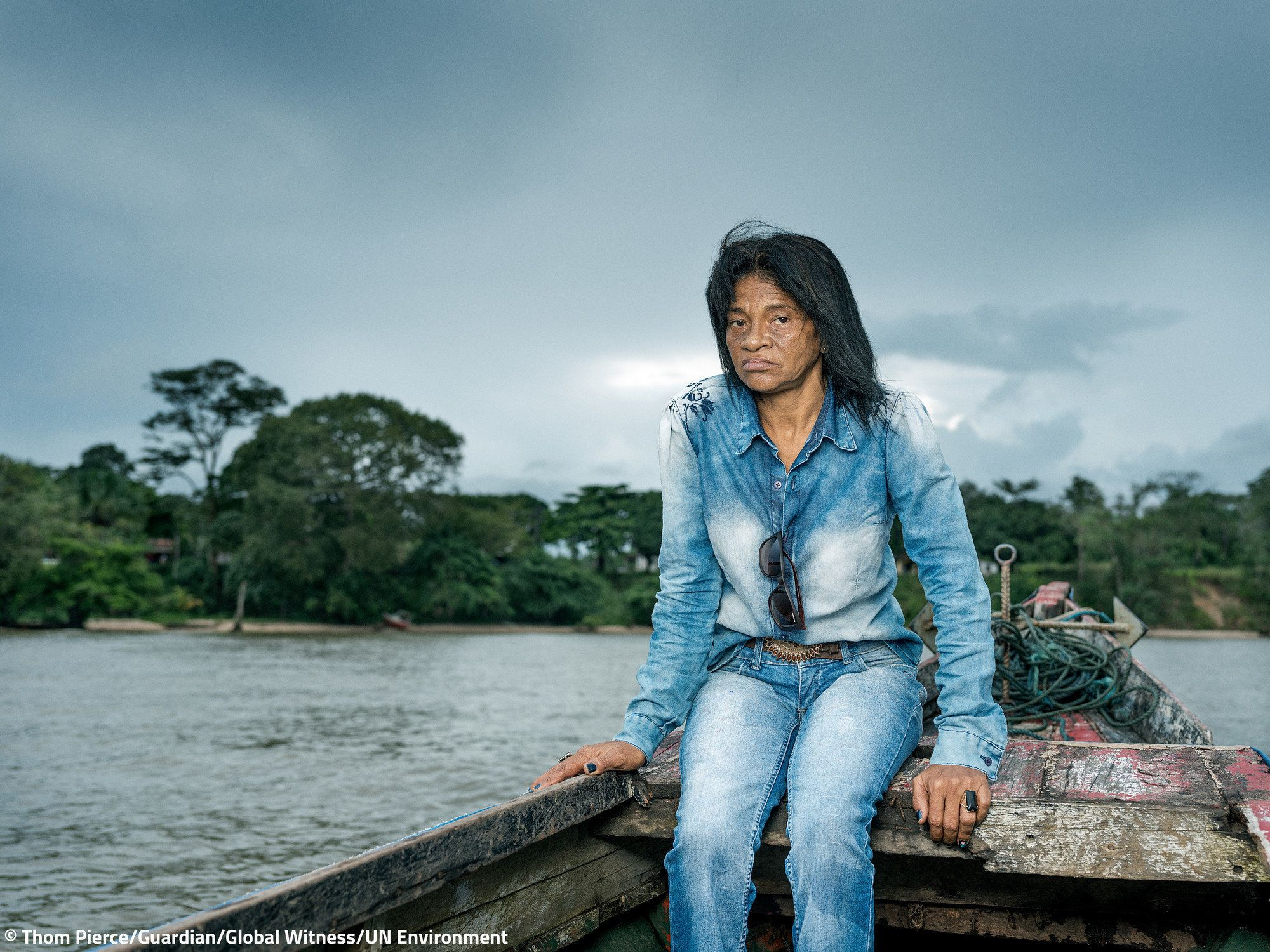 Maria do Socorro campaigns with communities against hydro aluminum factories, which are allegedly responsible for water poiso