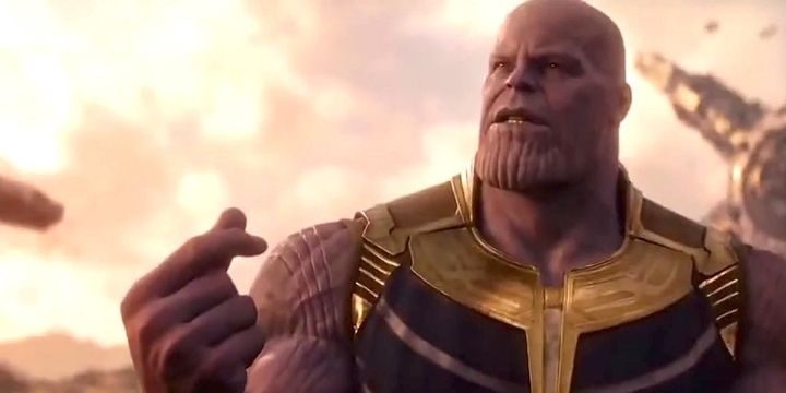 Thanos snaps his fingers and ...