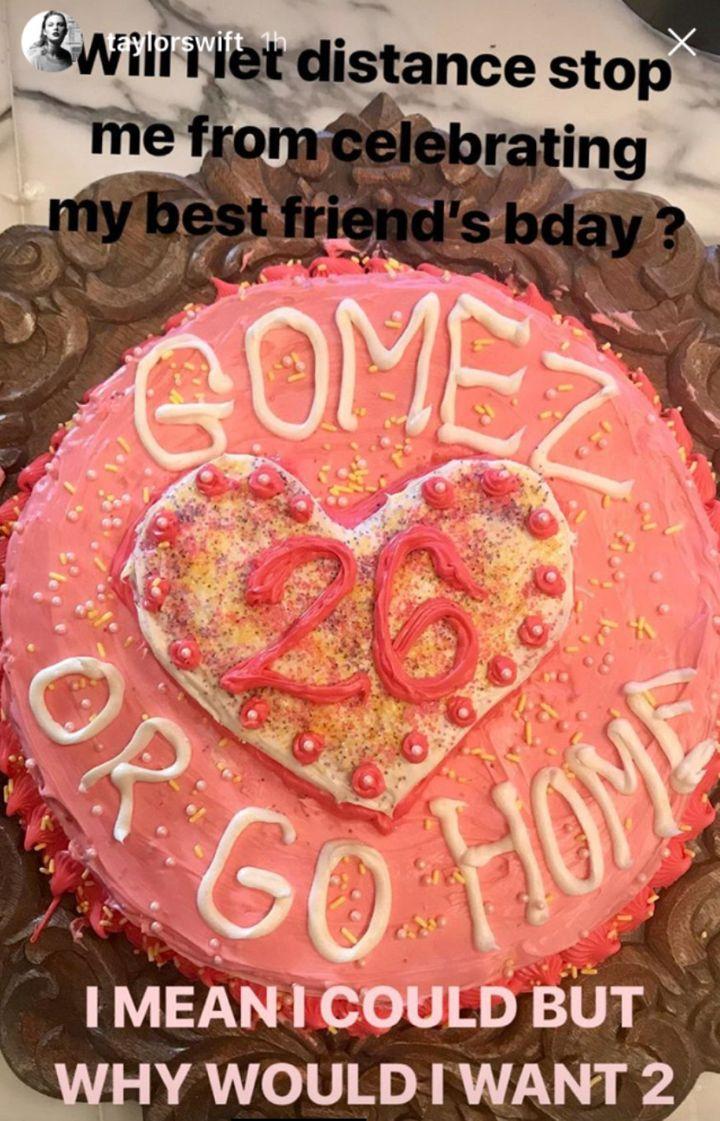Taylor Swift Sends Sweet Birthday Cake Wish To Selena Gomez Huffpost