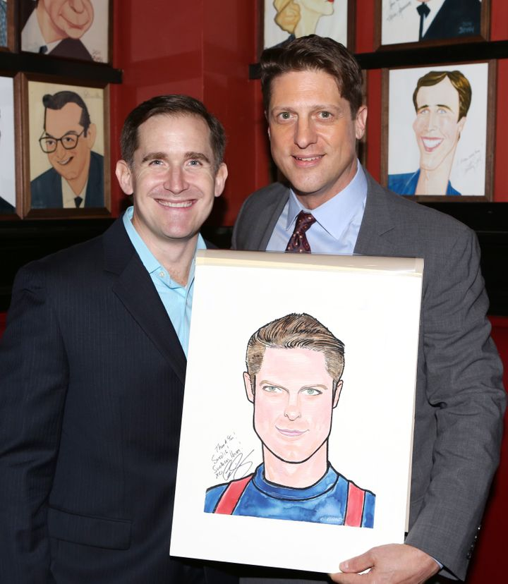 Sieber (right) with his husband, Kevin Burrows. The couple married in 2011.