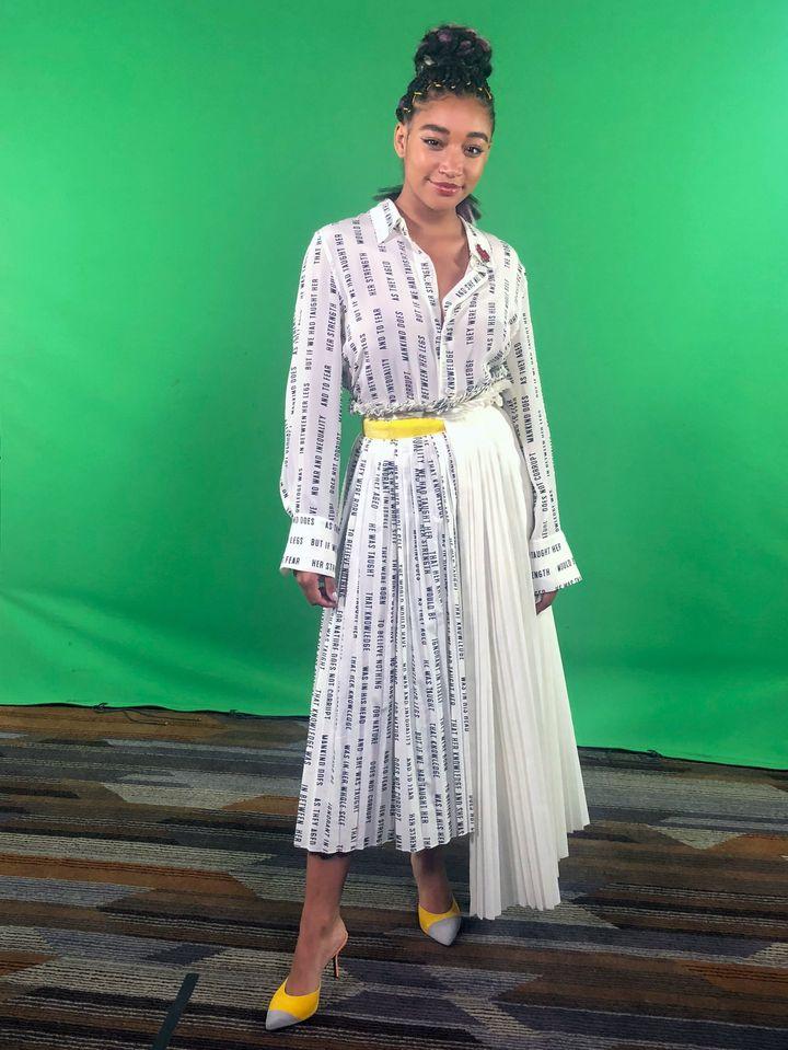 Amandla Stenberg at Comic-Con International in San Diego.