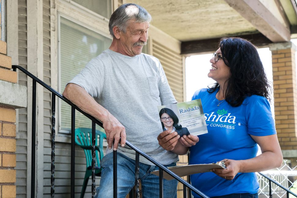 Tlaib canvassing in the Detroit area - 2018