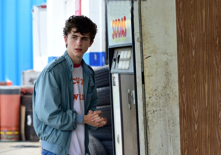 "A baby-faced Timothée Chalamet in ""Hot Summer Nights."""