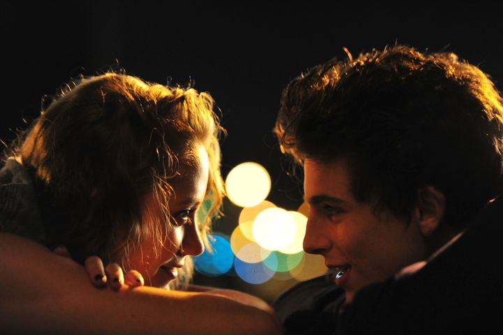"Maika Monroe and Timothée Chalamet in ""Hot Summer Nights."""