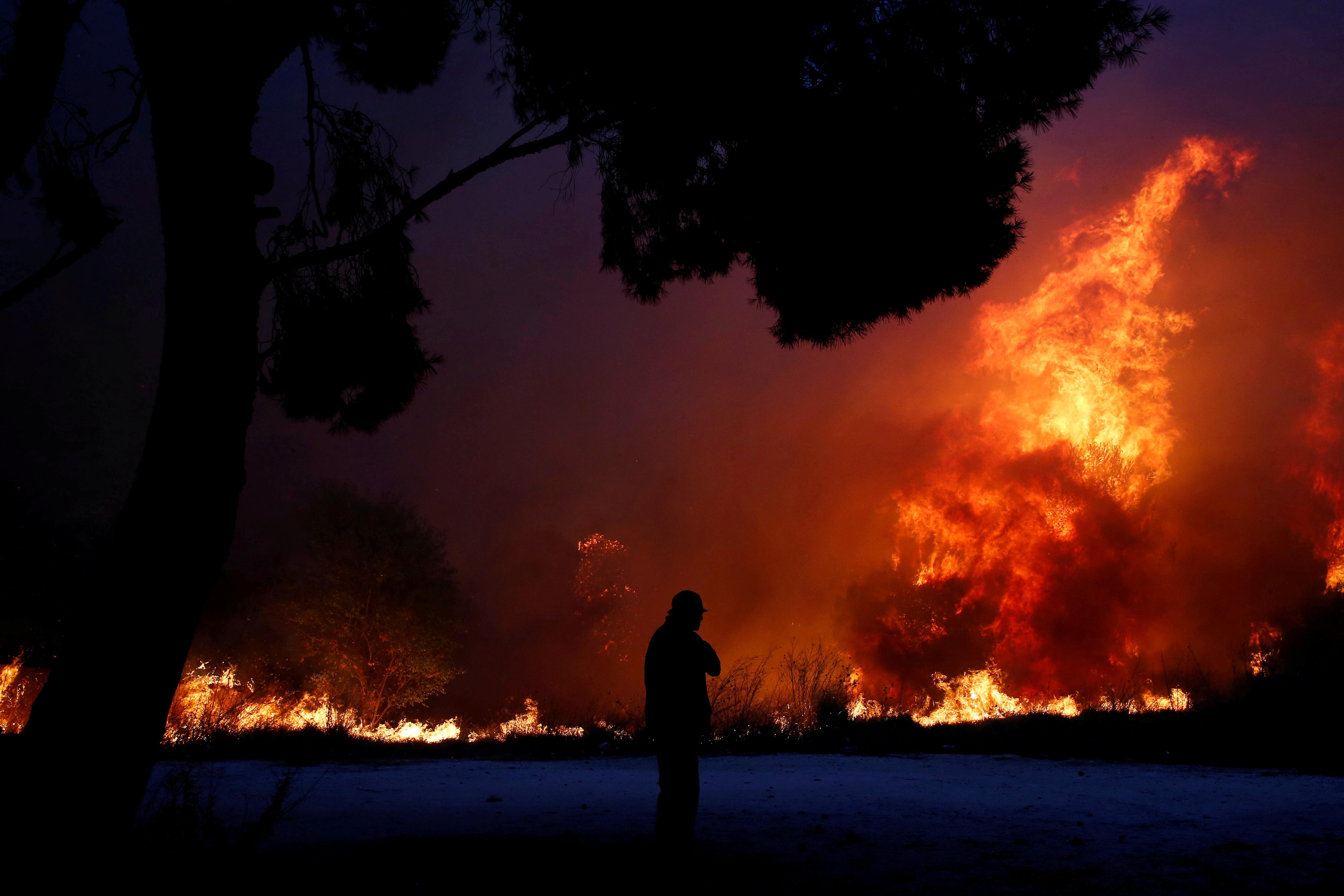 Greek Wildfire Kills At Least 74 Near Athens