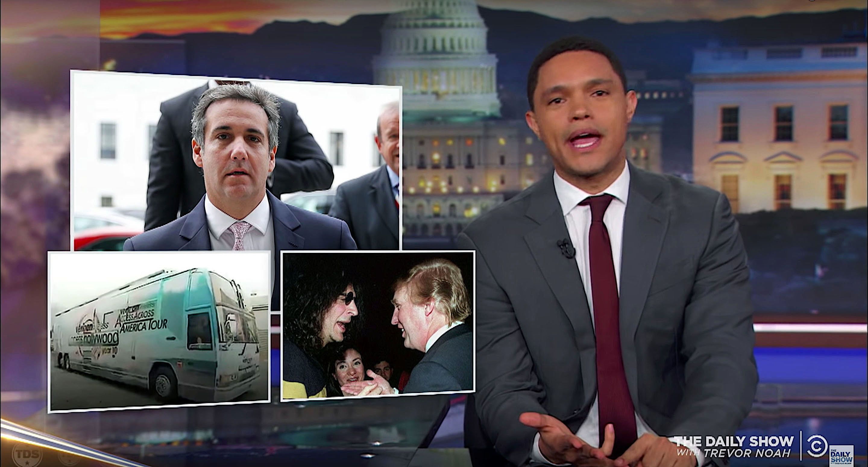 Trevor Noah of The Daily Show catches up on the weekend news