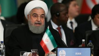 Iran's President Hassan Rouhani speaks during an extraordinary meeting of the Organisation of Islamic Cooperation (OIC) in Istanbul, Turkey May 18, 2018. Arif Hudaverdi Yaman/Pool via Reuters