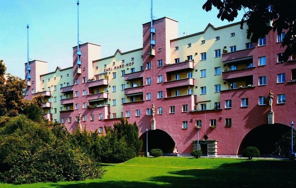 오스트리아 비엔나는 비싸지 않은 공공 주택
