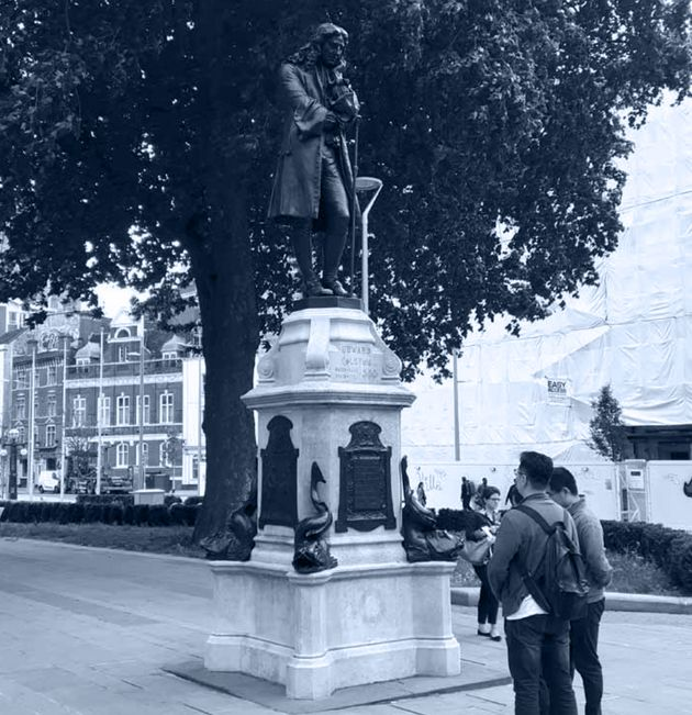 The statue of Edward Colston, on Colston Avenue, has been repeatedly