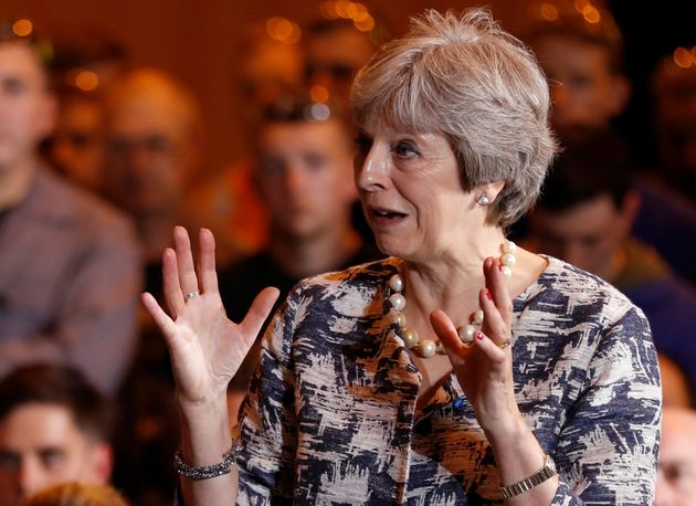 Theresa May met workers in Newcastle as part of a Cabinet away day in the north east on