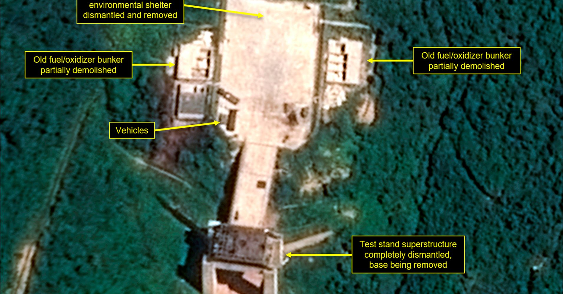 North Korea Appears To Be Dismantling Key Parts Of Launch Site
