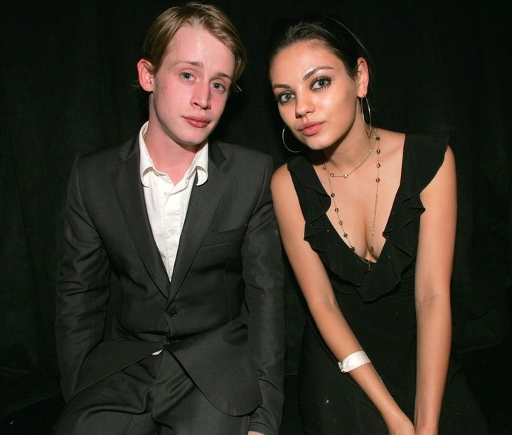 Macaulay Culkin and Mila Kunis.