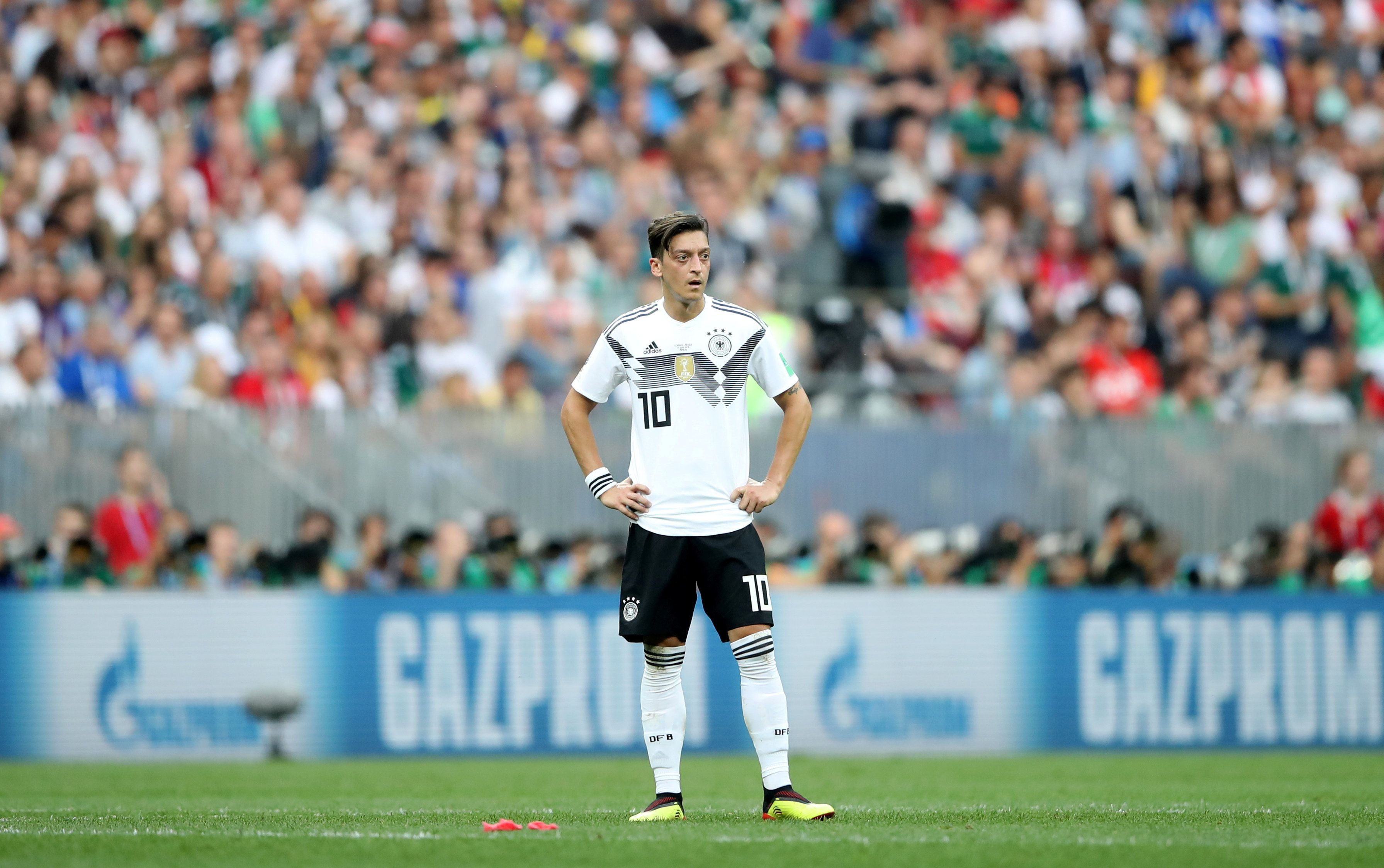 Soccer Football - World Cup - Group F - Germany vs Mexico - Luzhniki Stadium, Moscow, Russia - June 17, 2018   Germany's Mesut Ozil looks on during the match    REUTERS/Carl Recine
