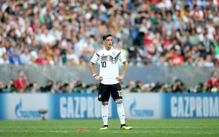 """Germany's Mesut Özil retired from national team play on Sunday, citing """"racism and disrespect"""" from the team's fans and"""