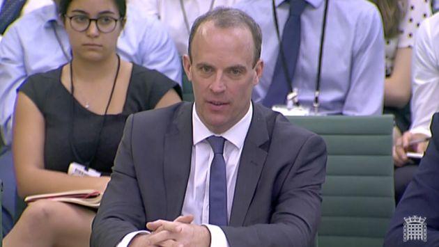 Brexit Secretary Dominic Raab tried to downplay the