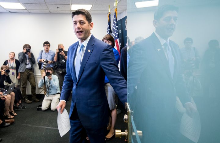 House Speaker Paul Ryan on Tuesday brushed off concerns that the president is considering revoking the security clearanc