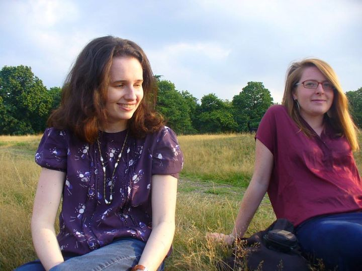 Beki Morgan (left) with a friend.