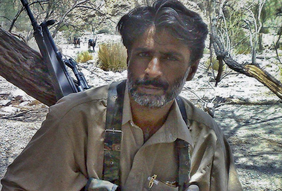 Balochistan insurgency leader Allah Nazar Baloch, shown here in an undated photograph, is a far cry from...