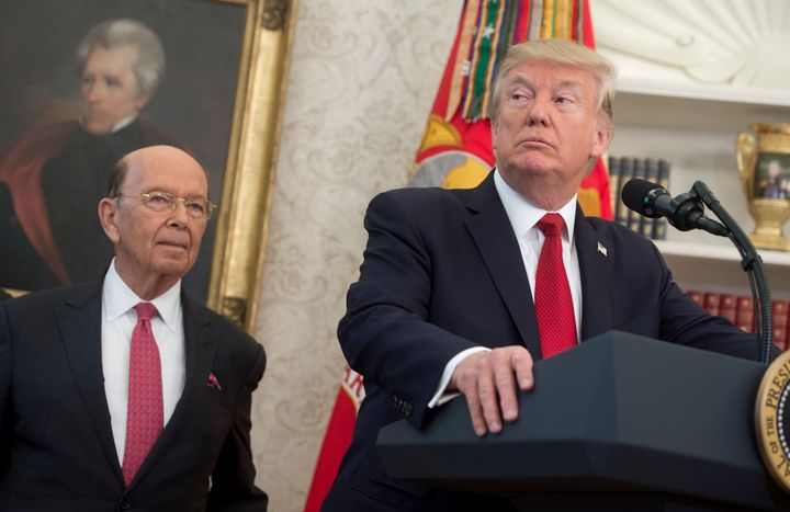 New documents reveal more about the process Secretary of Commerce Wilbur Ross (left) used to try to get a citizenship questio