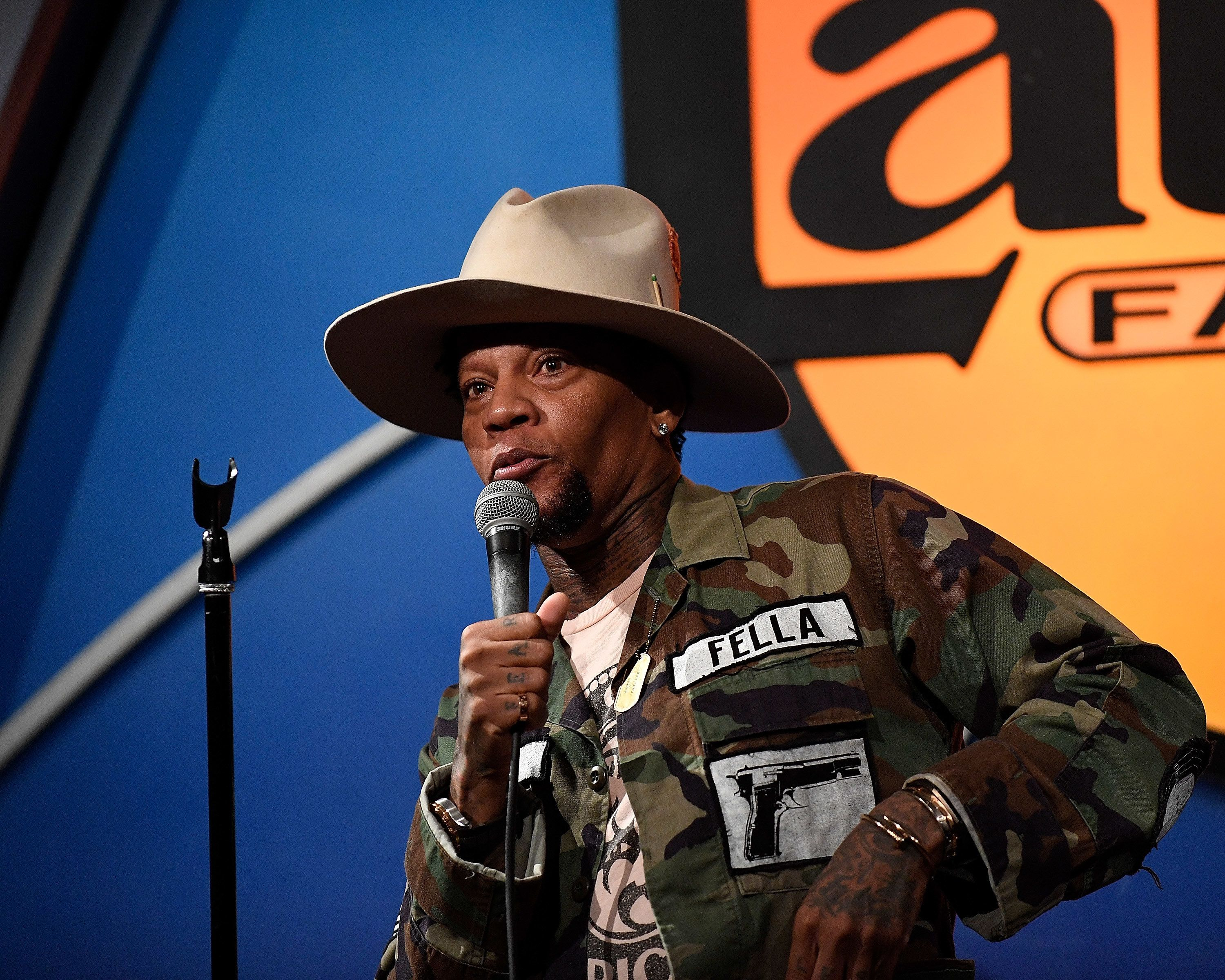 D.L. Hughley performs at the Sarcoma-Oma Foundation Comedy Benefit at The Laugh Factory on June 6 in West Hollywood.
