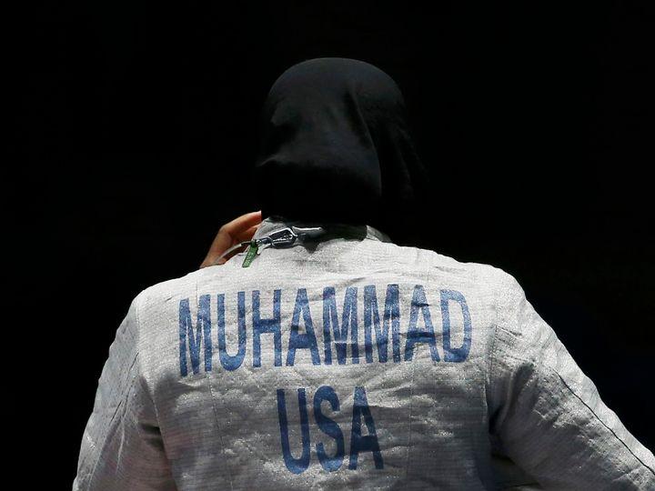 Ibtihaj Muhammad at the 2016Summer Olympics.