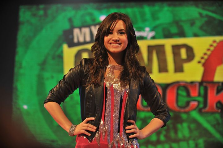"Demi Lovatostars in Disney Channel's ""Camp Rock."""