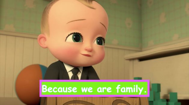 """The Boss Baby: Back in Business"" on Netflix, with customized"