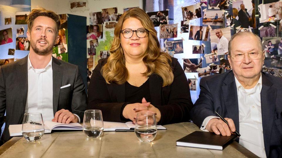 Die drei Zahltag-Experten Felix Thönnessen, Ilka Bessin und Heinz