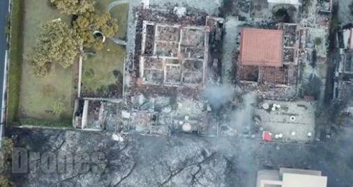 Incendies en Grèce: ces images vues du ciel donnent une idée des ravages dramatiques