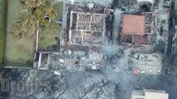 Incendies en Grèce: ces images vues du ciel donnent une idée des ravages