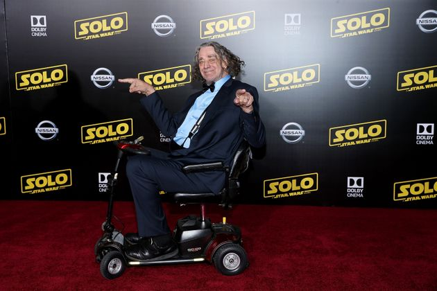 Peter has been seen in a wheelchair at recent 'Star Wars'
