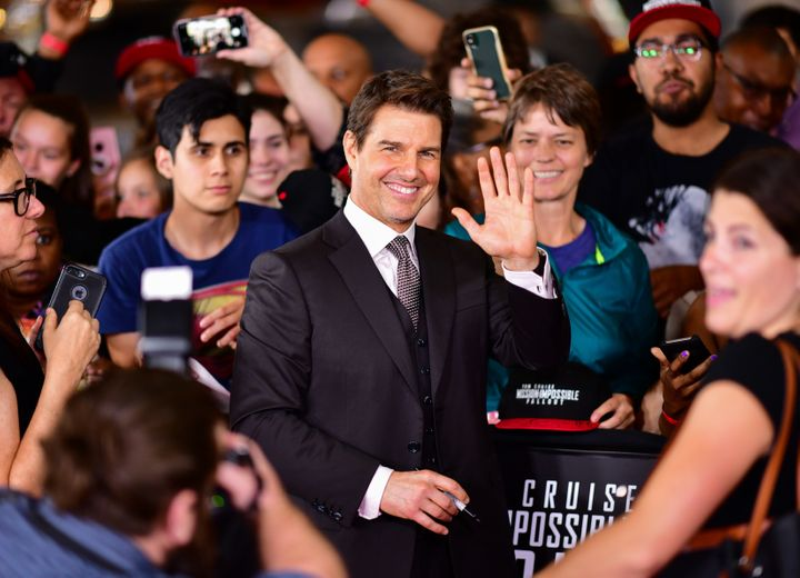 """Tom Cruise, posing as a mere mortal at the """"Mission: Impossible - Fallout"""" premiere."""