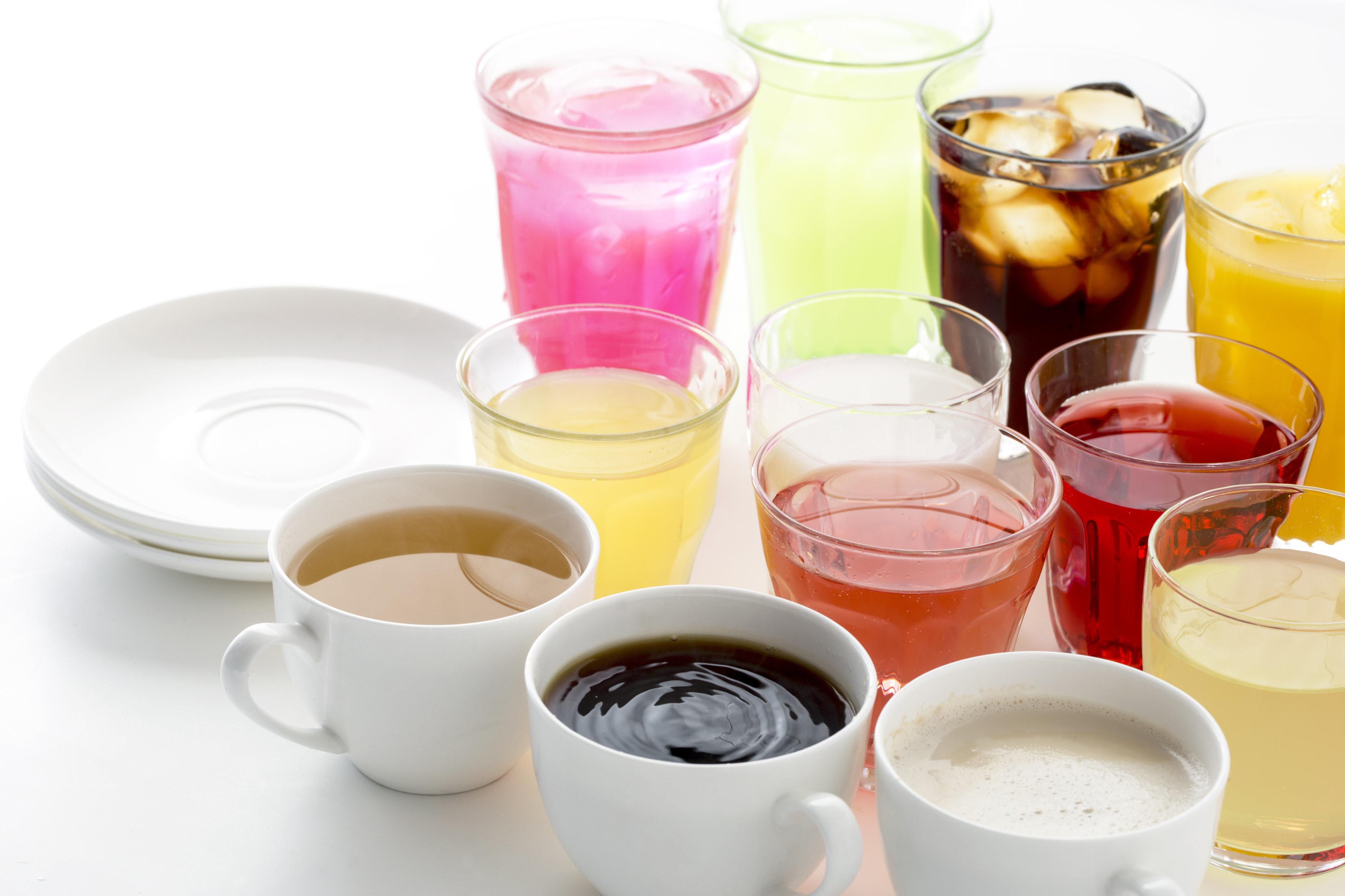 多種類の飲み物